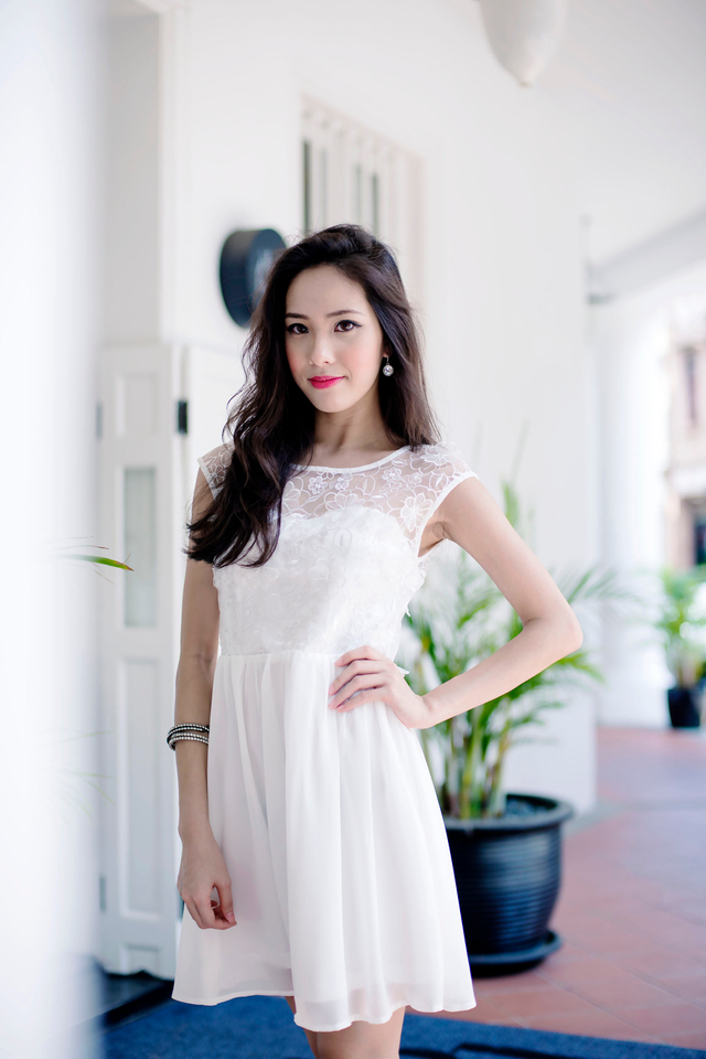 Chantelle Organza Dress in White