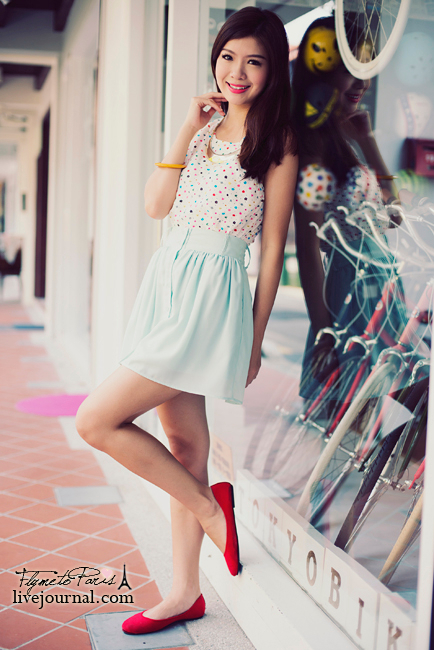 Pixie Chiffon Skirt in Pastel Mint
