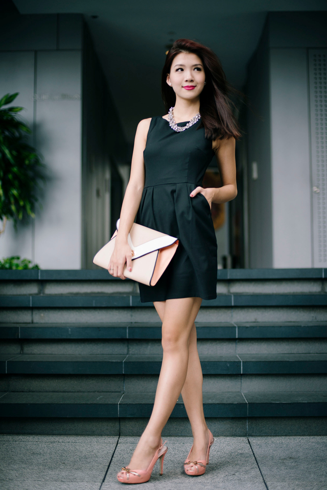 *RESTOCKED* Corporate Beauty Dress in Black