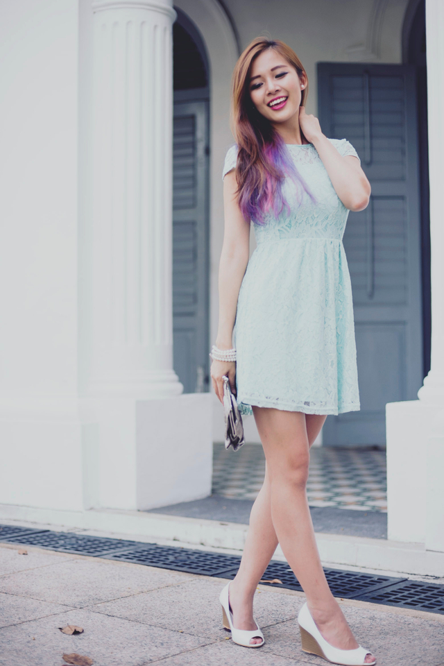 L'amour Lace Dress in Jade
