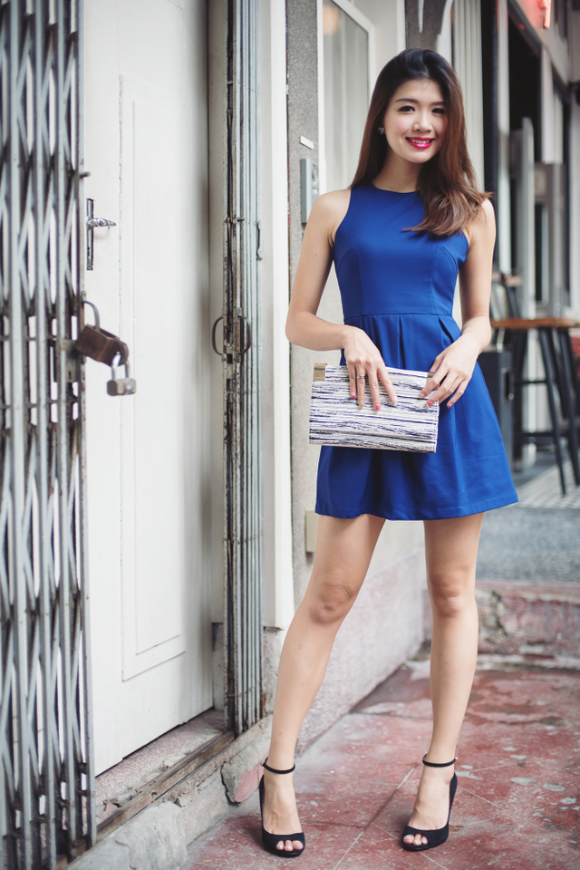 Reanne Dress in Indigo