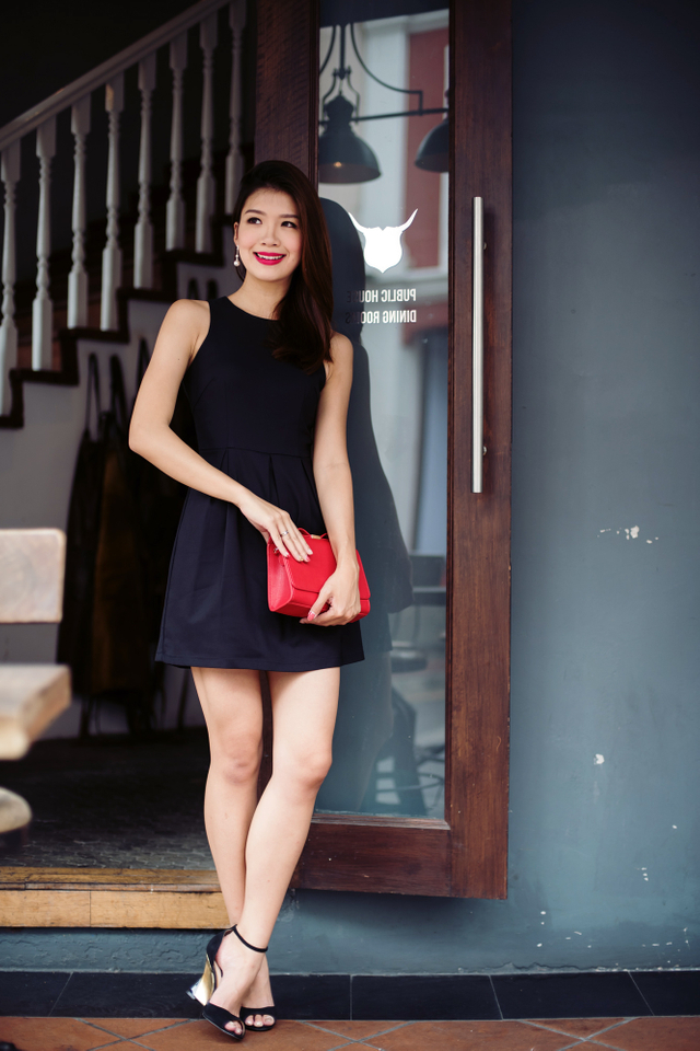Reanne Dress in Black
