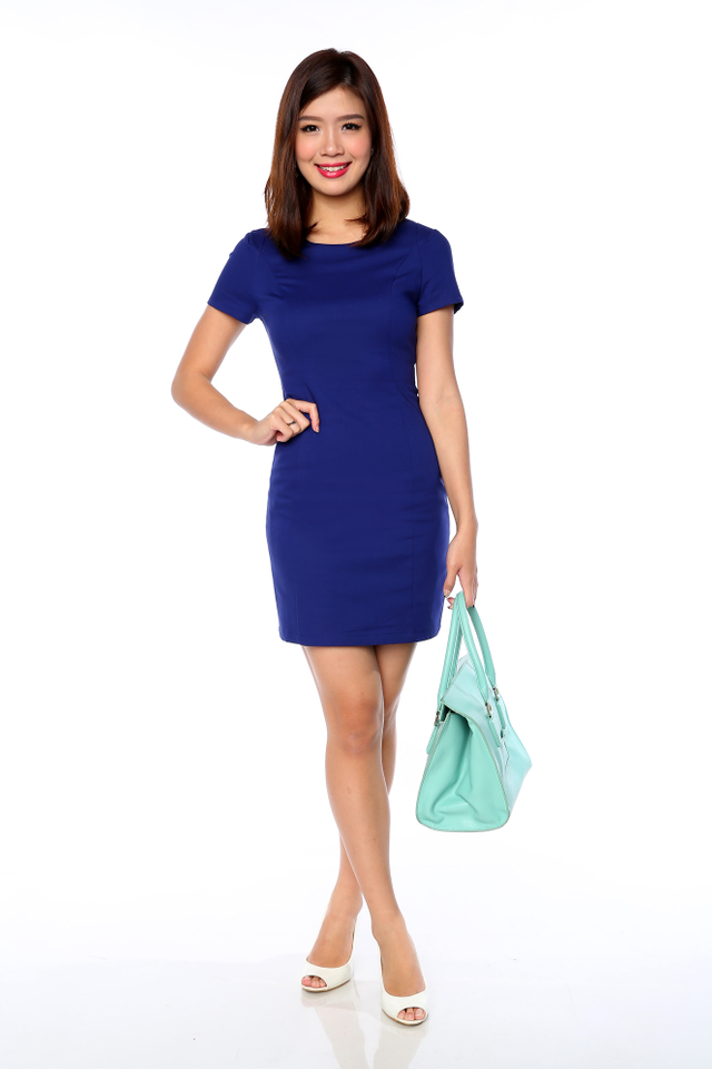 Lady in Confidence Dress in Indigo