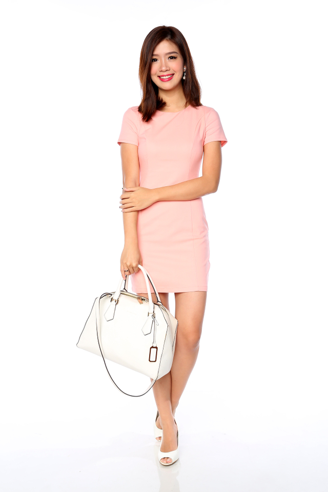 Lady in Confidence Dress in Sweet Pink