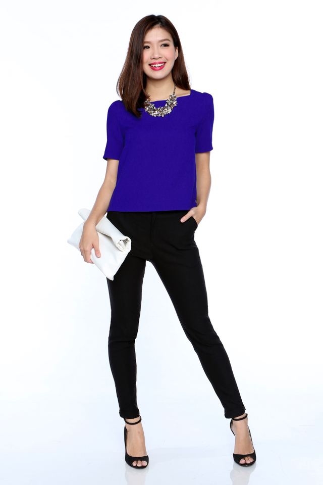 The New Faye Square Neck Top in Cobalt Blue