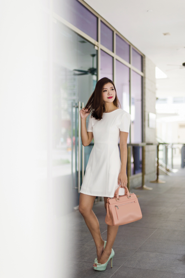 Sandra Work Dress in White