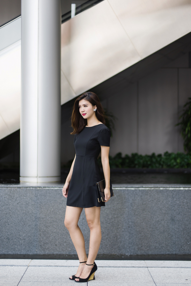 Sandra Work Dress in Black