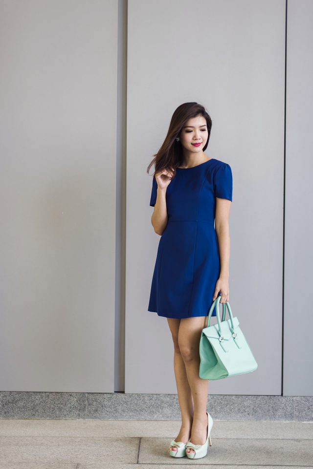 Sandra Work Dress in Indigo
