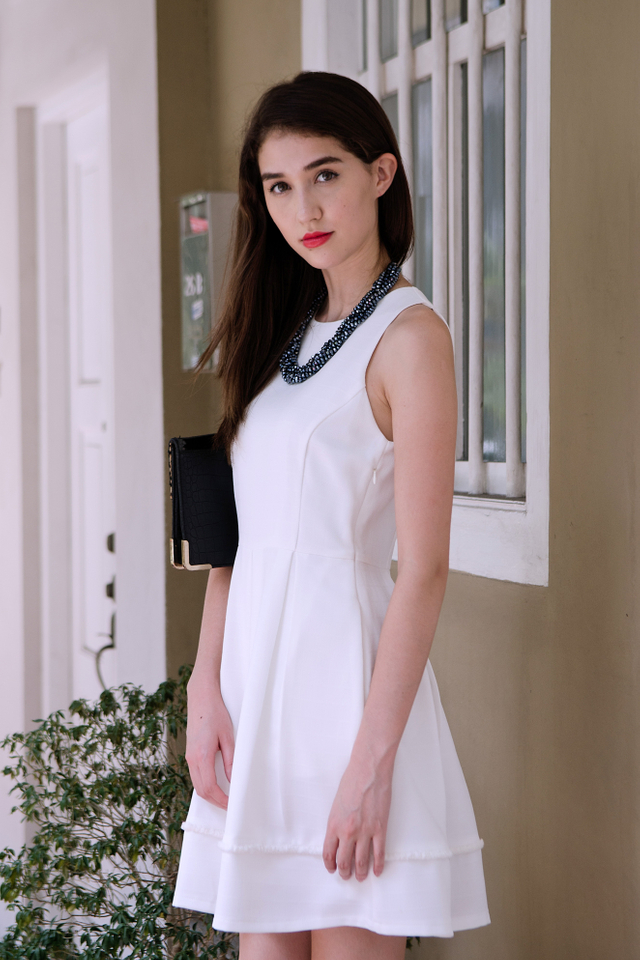 Annalise Dress in White