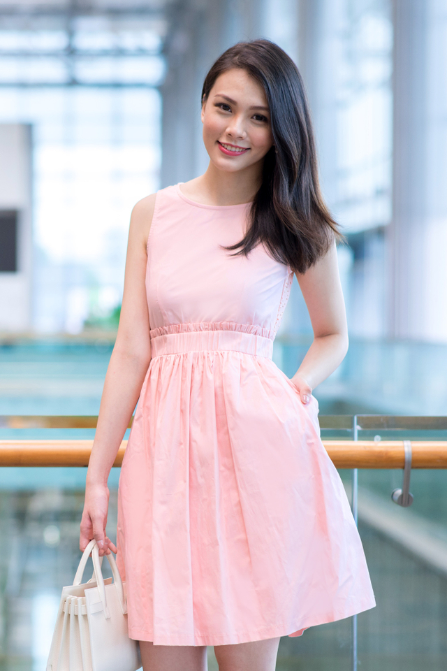 The Perfect Summer Crochet Midi Dress in Pink