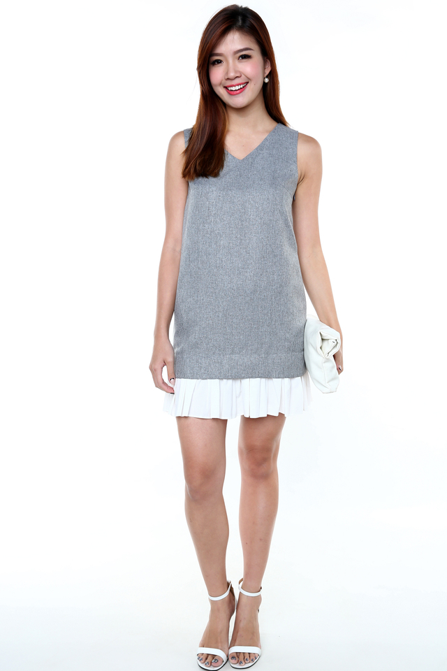 Tia Fun Time Dress in Grey