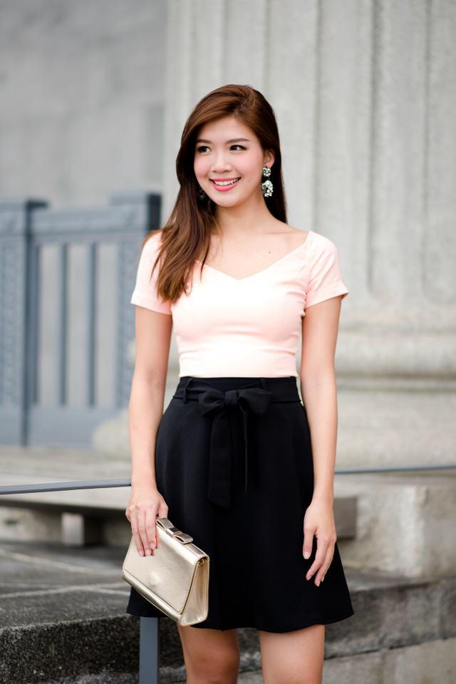 Let's Swing Skirt in Black