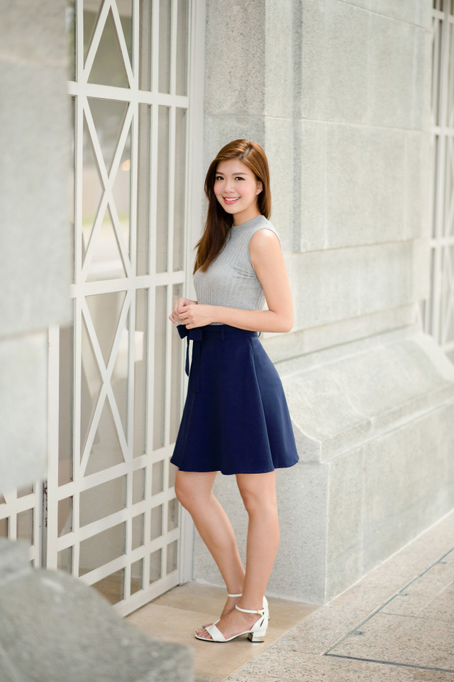 Let's Swing Skirt in Navy