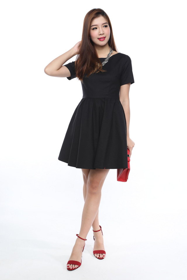 Lucky Strike Tulle Circle Dress in Black