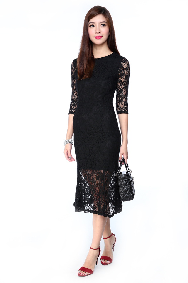 Katalina Lace Overlay Mermaid Dress