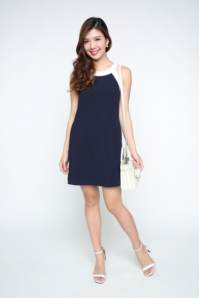 Kayla Dress in Navy