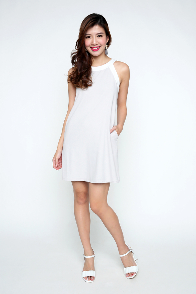Kayla Dress in Light Grey