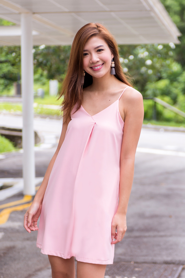 Aria Slip Dress in Pink