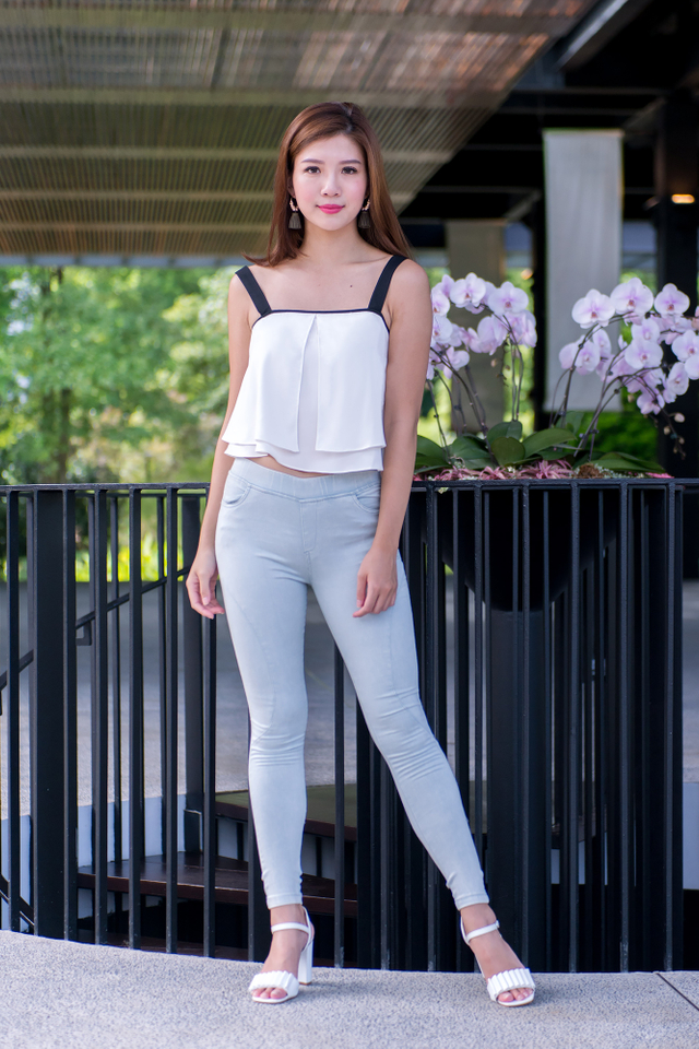 Avalyn Strap Top in White