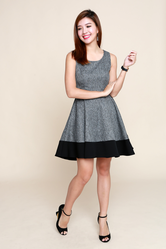 Lydia Swing Dress in Black
