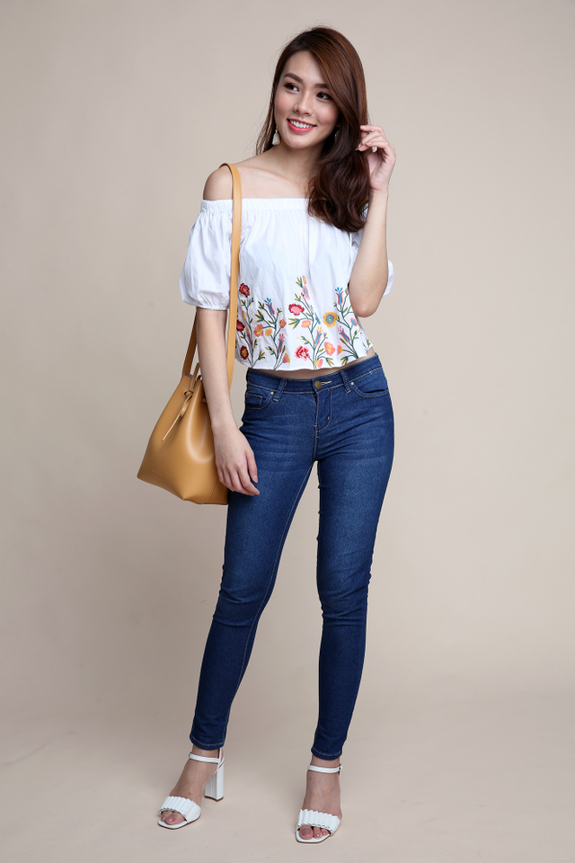 Singing Blooms Off-Shoulder Top
