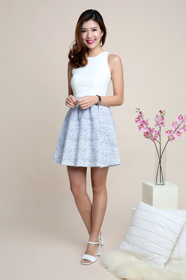 Adelia Dress in Blue Frost