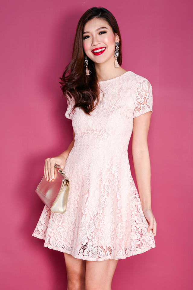 Lace Devotion Dress in Pink