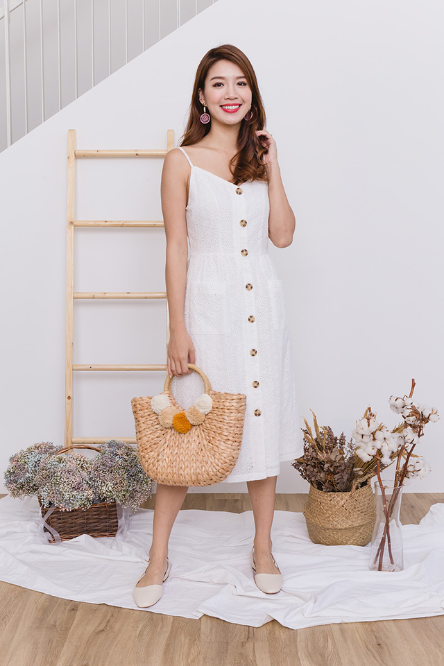 Willow Eyelet Midi Dress