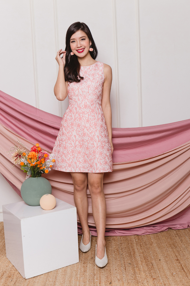 True Harmony Dress in Peach Petals