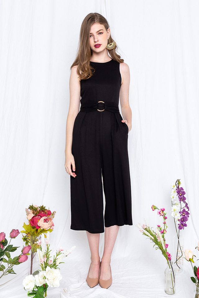 Power Play Jumpsuit in Black