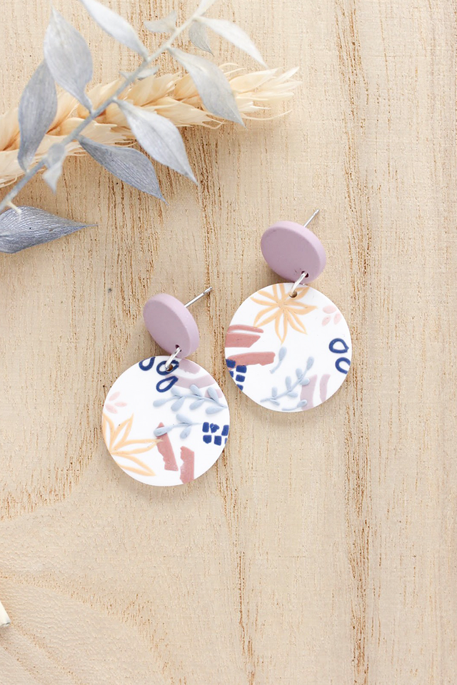 *RESTOCKS* Tuileries Round Dangles in Wisteria (Lilac)