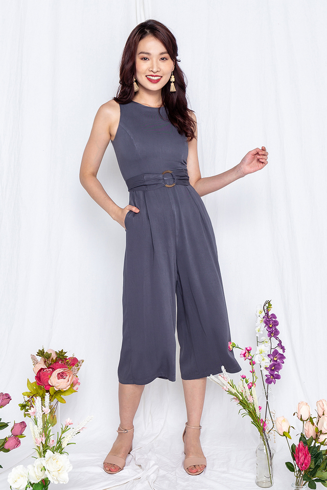 Power Play Jumpsuit in Blue Grey
