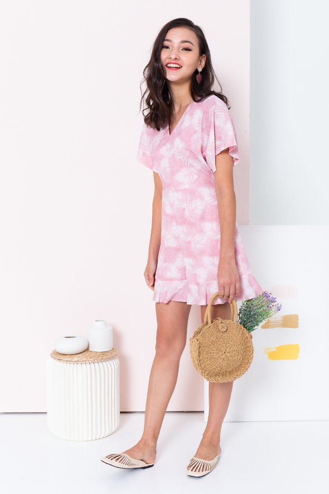 Palm Springs Romper in Pink Cloud