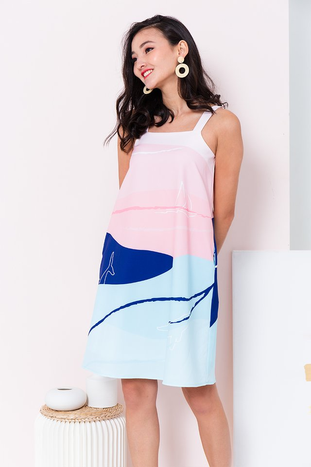 Yacht Club Dress in Blue Waters