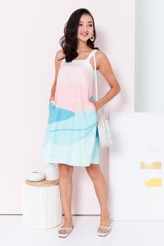 Yacht Club Dress in Turquoise Waters