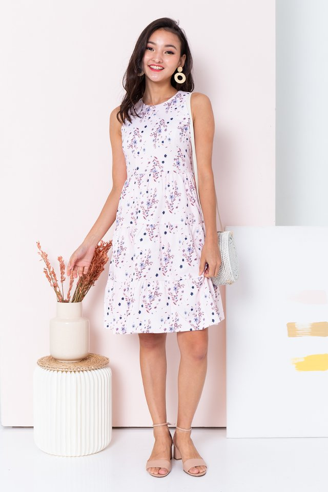 Floral Provence Dress in Pink