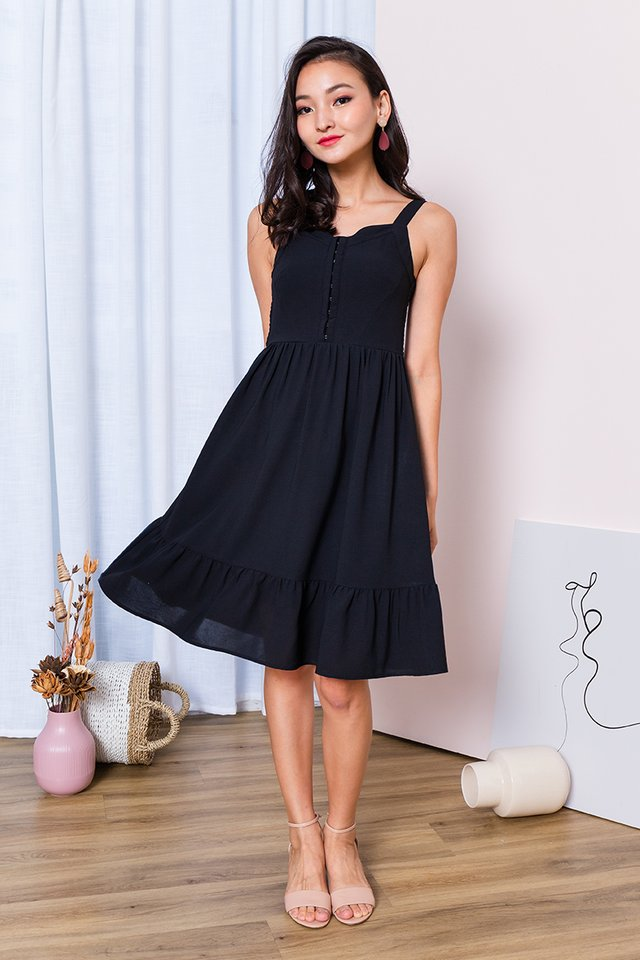 Girl Next Door Dress in Black