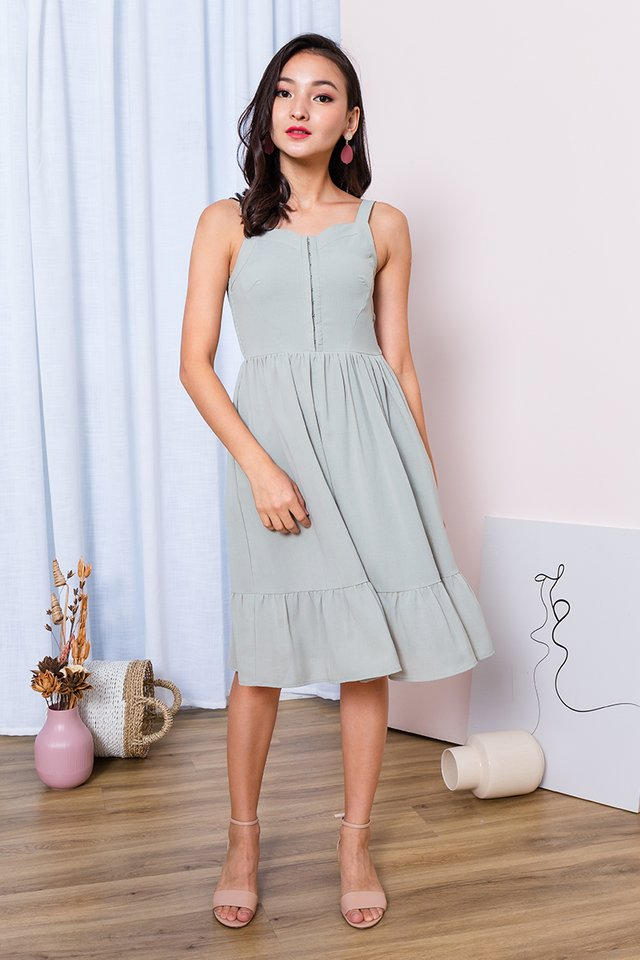 Girl Next Door Dress in Light Sage