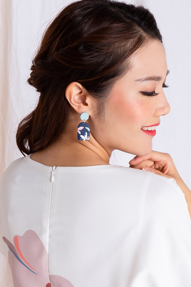 Harmony Arch Earrings in Navy