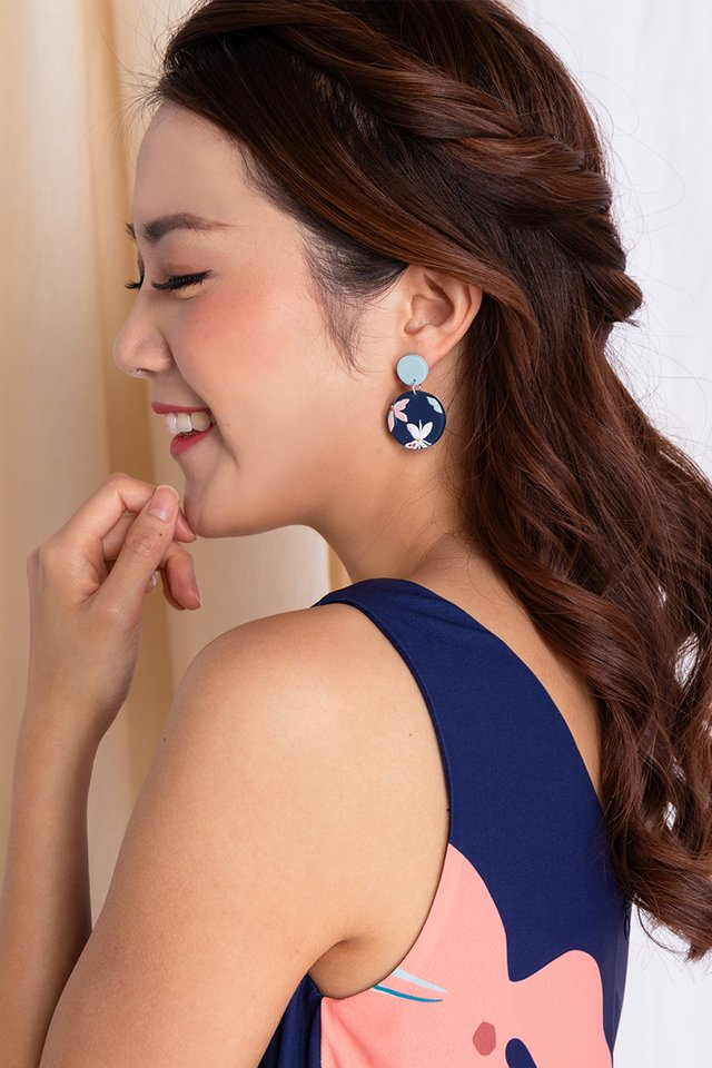 Harmony Round Dangles in Navy