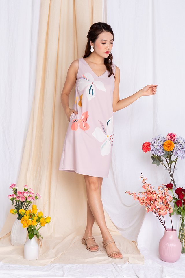 Harmony Sleeveless Dress in Lady Pink
