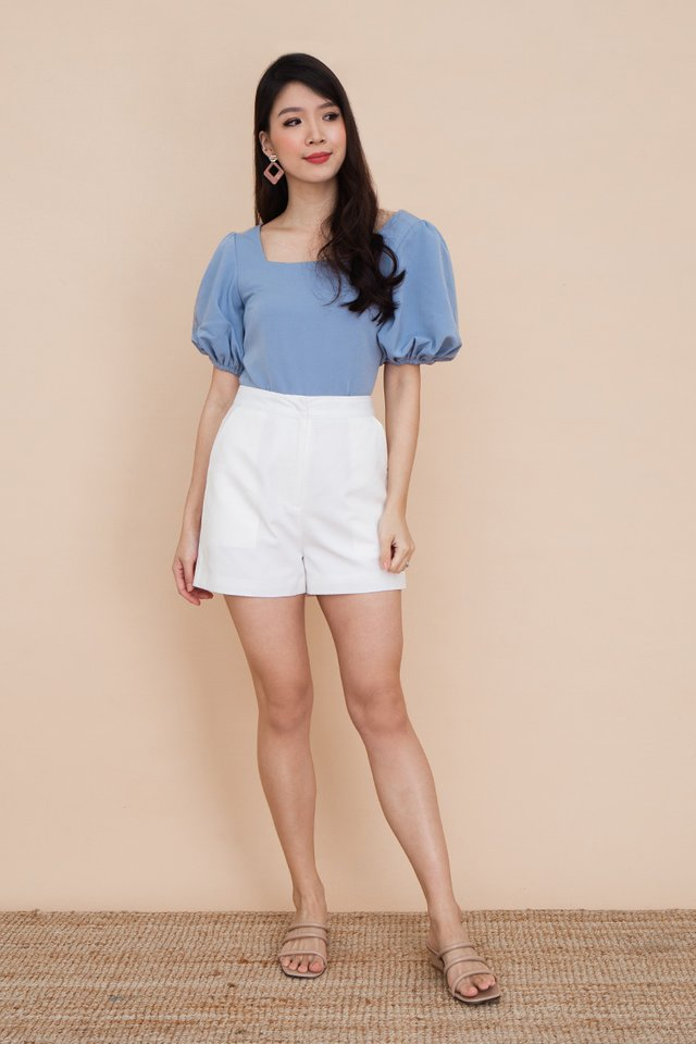 Ada Puff Sleeve Top in Blue