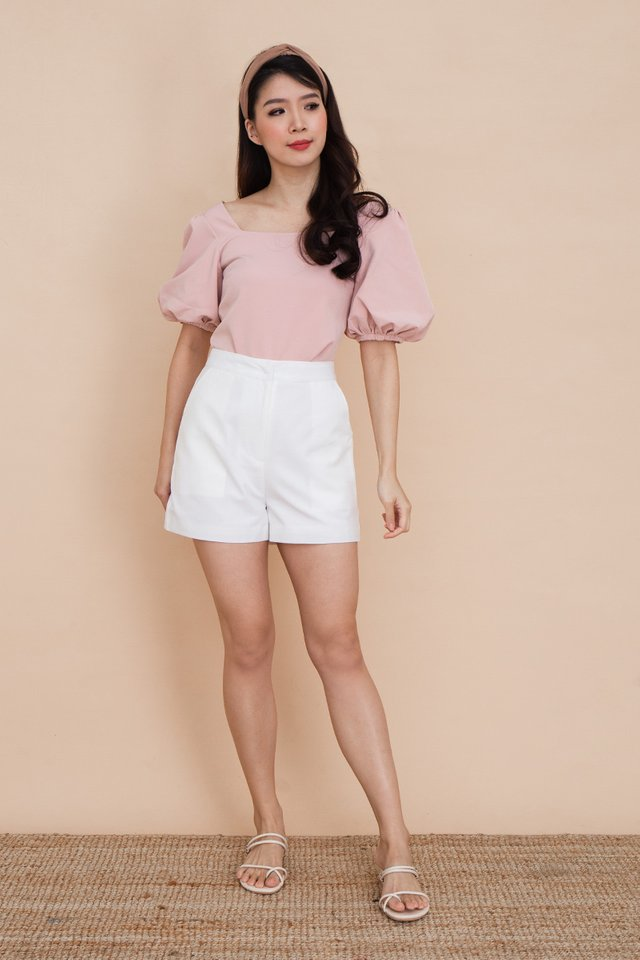 Ada Puff Sleeve Top in Pink