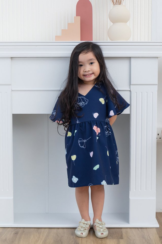 Euphoria Girls Dress in Navy