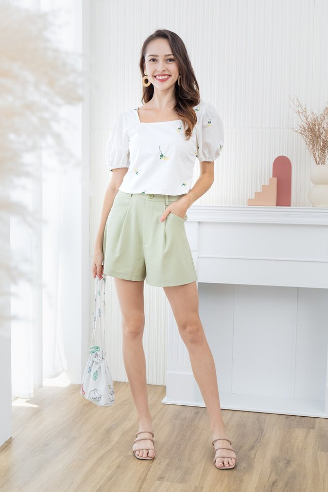 Ezan Shorts in Apple Green