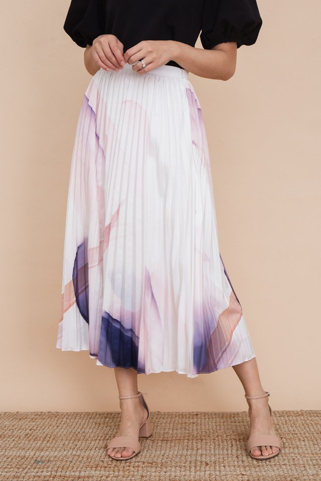 Night Breeze Pleated Skirt