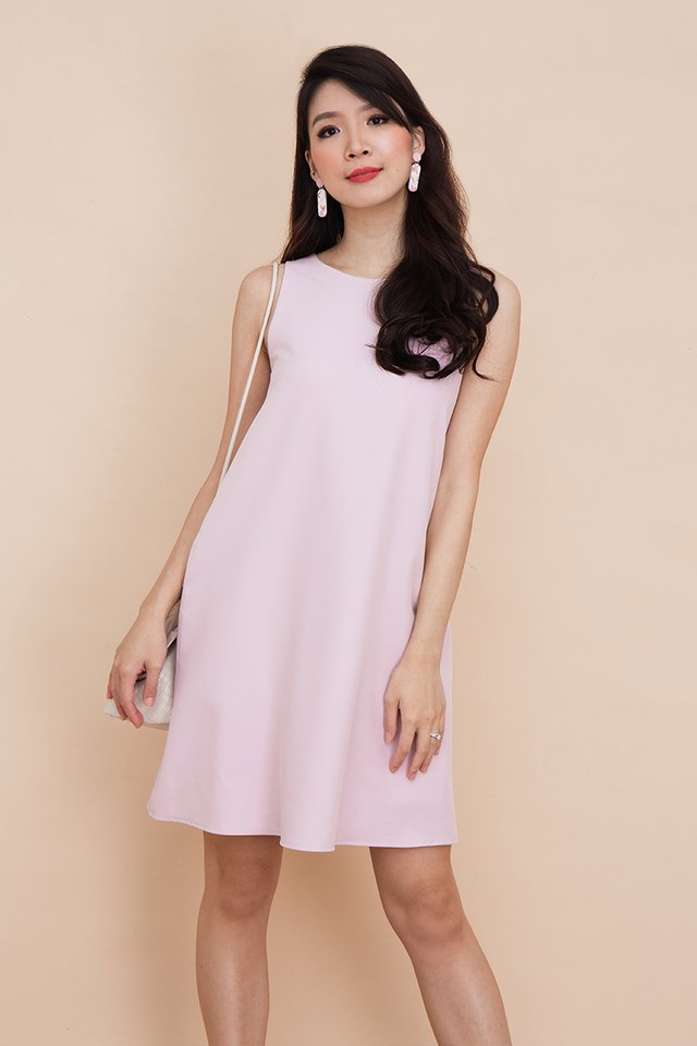 Seasons Trapeze Dress in Lilac Pink