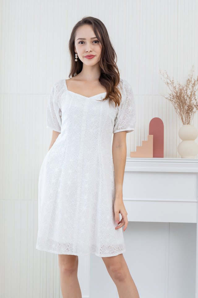 Dreaming About Eyelet Dress in White