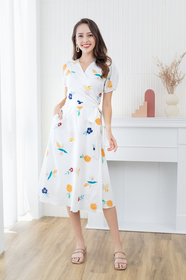 Fresh Harvest Wrap Dress