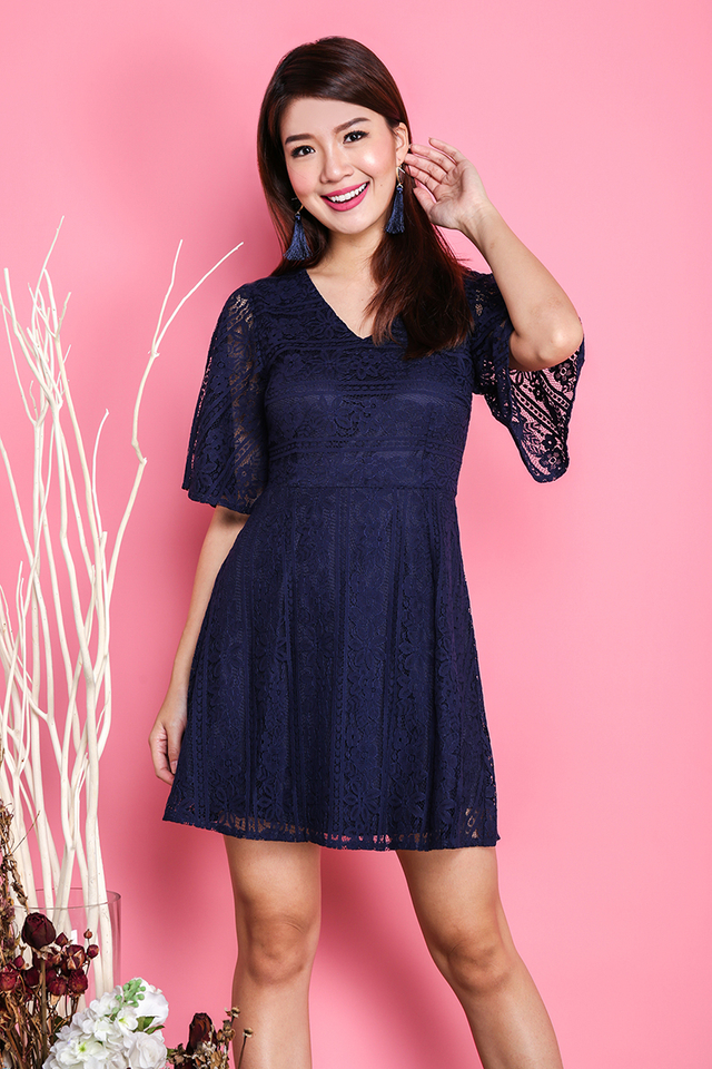All About The Lace Dress in Navy